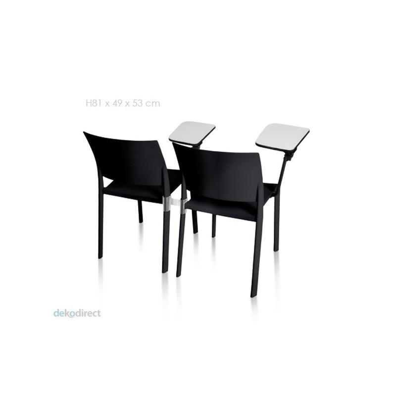 Silla fiona con mesa auxiliar for Sillas con apoyabrazos escritorio