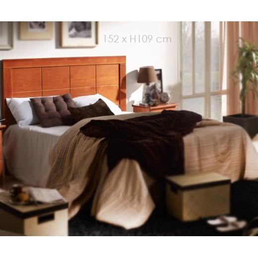 Cabecero madera maciza 152 cm, color nogal o miel