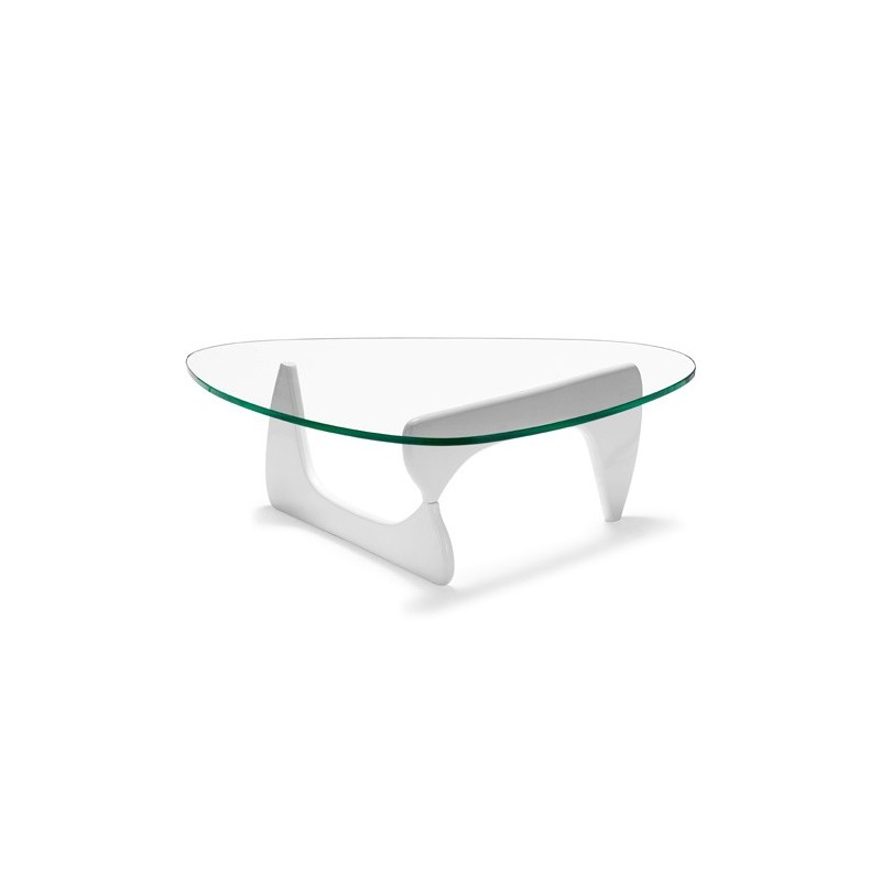 Mesa noguchi blanca noguchi barata mesa centro dise o - Mesas de cristal de diseno ...