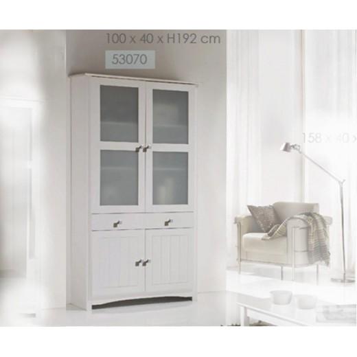 Armario vitrina blanca barata colonial altea - Vitrinas blancas baratas ...