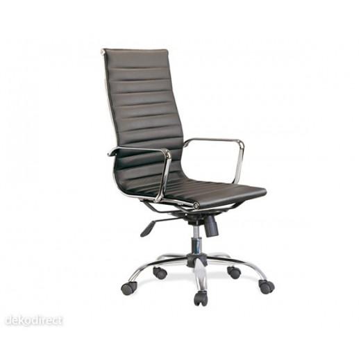 Silla oficina Eames similpiel negra 119-B Aluminium