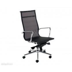 Silla oficina,119,malla negra,Aluminium Eames,doble m.