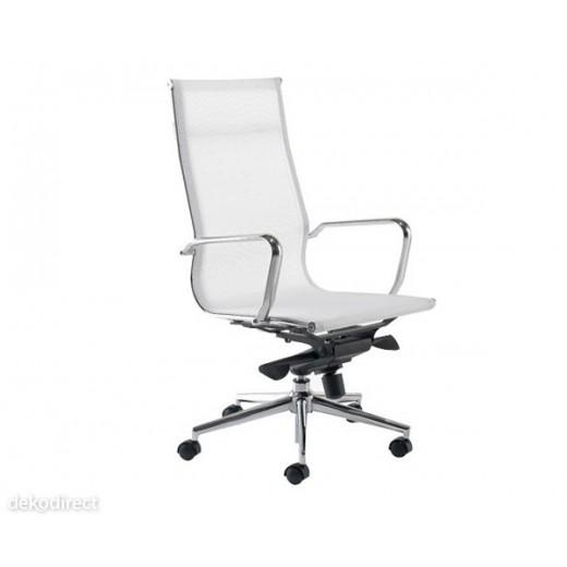 Silla oficina Malla - A, blanca, Aluminium 119 Eames
