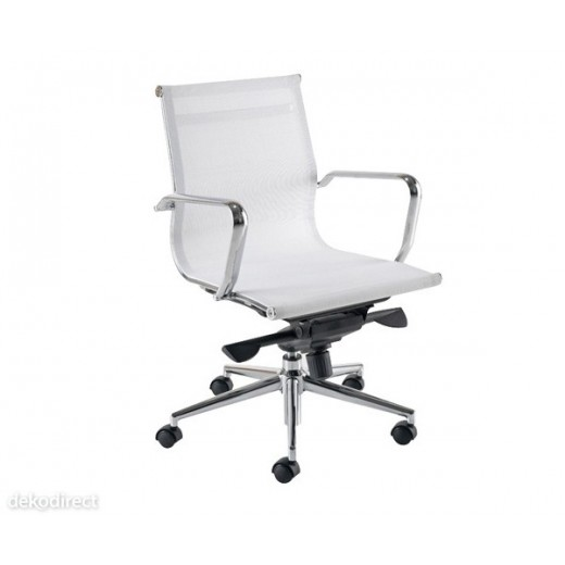 silla oficina malla a blanca aluminium 117 eames
