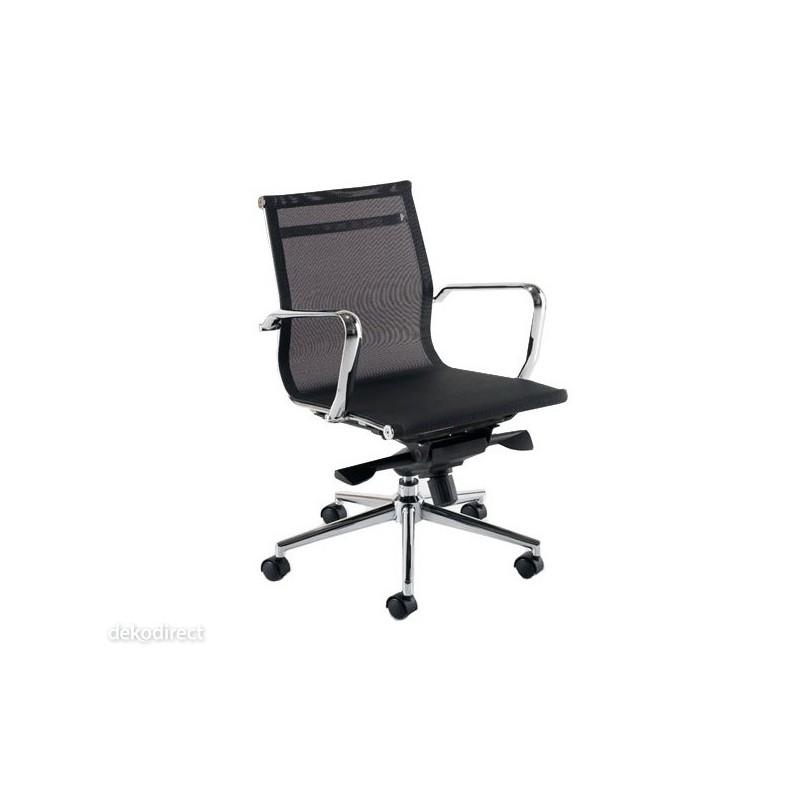 Silla oficina Malla - A, negra, Aluminium 117 Eames