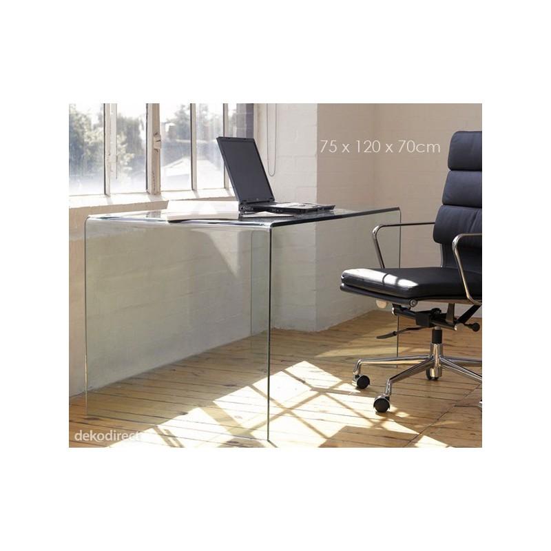 Mesa escritorio cristal concord for Mesa cristal 150 x 60