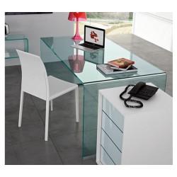 Mesas de escritorio mesa de ordenador ijoy color verde - Mesa escritorio cristal ikea ...