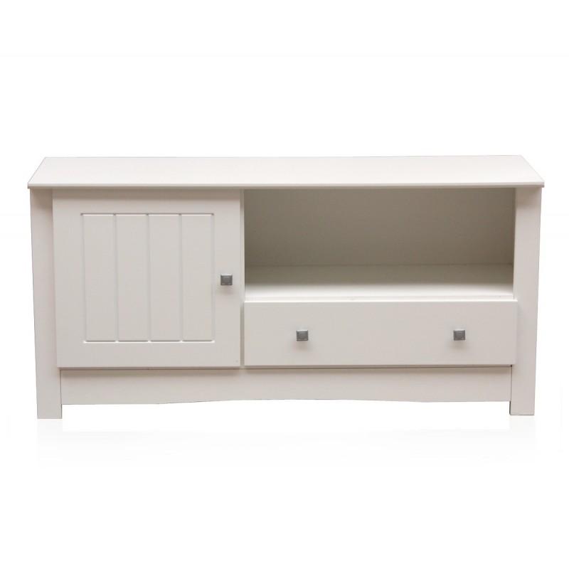 Mesa consola tv blanca consola televisi n altea - El mueble colonial ...