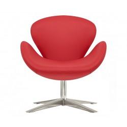 Sillón Swan de Jacobsen similpiel rojo