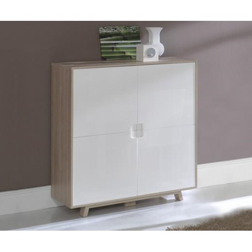 Aparador comedor-salón diseño en roble y blanco en Dekodirect.com