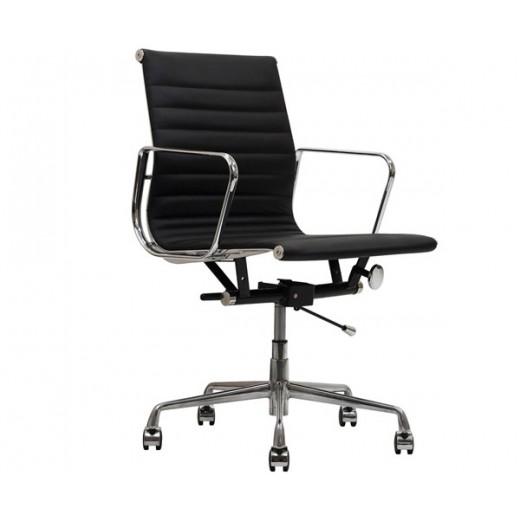 Silla oficina Eames Premium negra 117 Aluminium