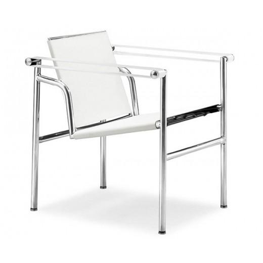 Sillon LC1 reclinable cuero blanco