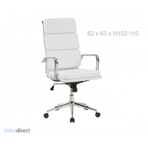 Silla soft 219 eames blanco for Silla escritorio blanca