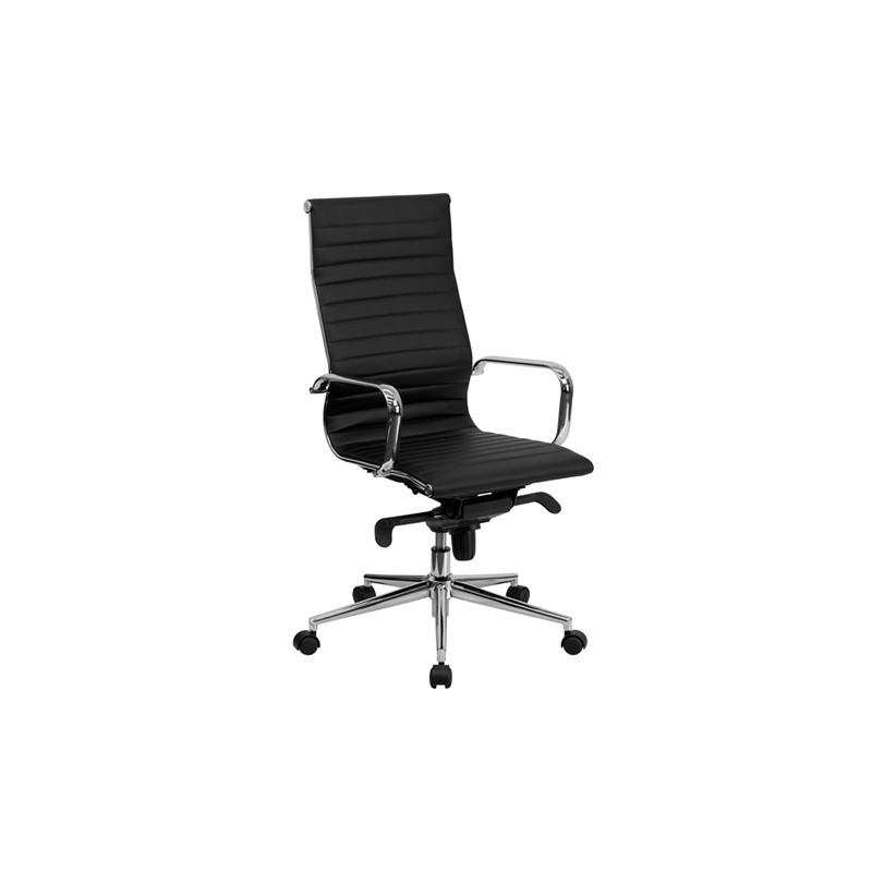 Silla de oficina eames aluminium 119a alta similpiel negra for Sillas negras baratas