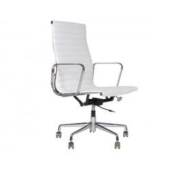 Silla oficina Premium -119 alta, Aluminium Eames blanca