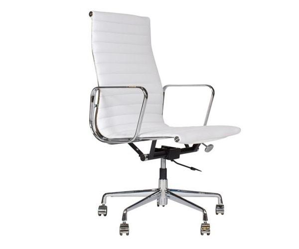 oficina Premium -119 alta, Aluminium Eames blanca