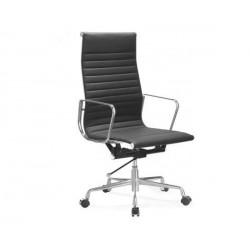 Silla oficina Premium -119 alta, Aluminium Eames negra