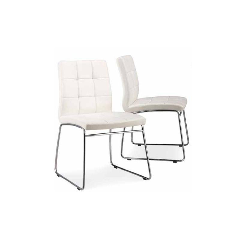 Silla tapizada gris oferta for Ofertas de sillas