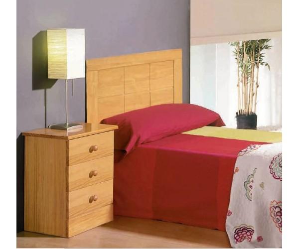 Cabecero colonial cama 90 color nogal o miel