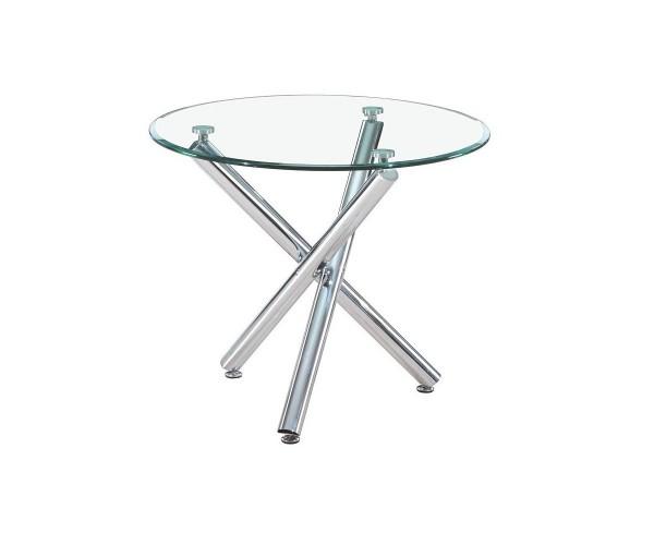 mesa cristal 90 cm